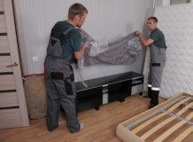 распаковка мебели